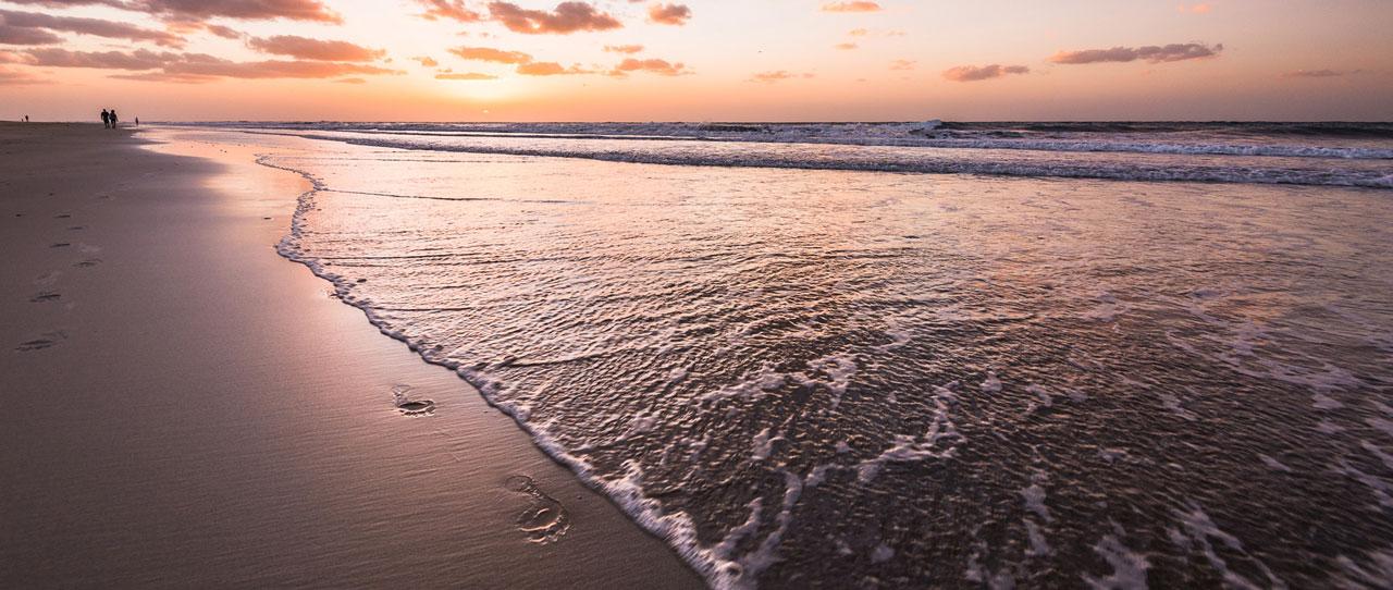 Spuren im Sand, die mit einer Ainfach-Website erzeugt werden